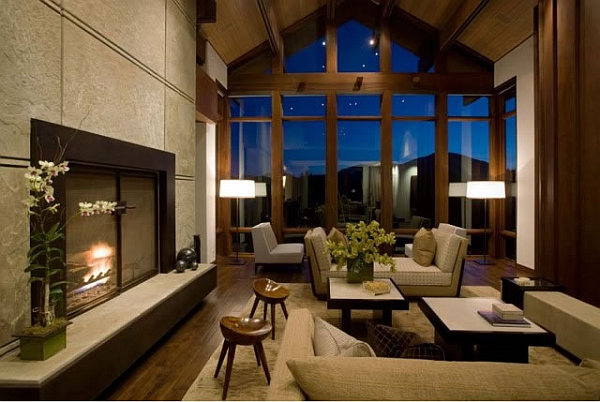 Barker-Residence-Sun-Valley-high-ceiling-living-room